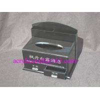 China Factory custom black acrylic tissue box with drawer for hotel wholesale