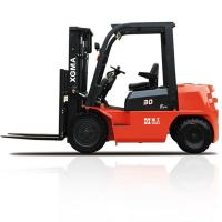 China 3 Stage Forklift Truck Diesel3000kg Rated Capacity With 180 Degree Rearview Mirror wholesale