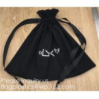 China 100% Cotton Canvas Favor Bag Pouch with Drawstring,Cotton Breathable Dust-Proof Drawstring Storage Pouch Multi-Functiona wholesale
