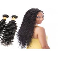 China No Chemical No Smell Deep Wave Human Hair Weave , Natural Black Virgin Human Hair wholesale