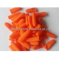 China Cut off Orange Anti Static Gloves / Anti Slip Finger Stalls with Textured Surface wholesale
