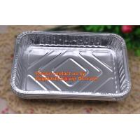 China extra-large disposable rectangle aluminium foil deli tray food foil container for takeaway food foil containers with lid wholesale