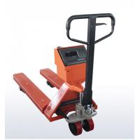 China OEM Mild Steel Pallet Jack Weight Scale , Red Hand Pallet Truck With Scale wholesale