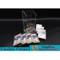 Plastic Casino Game Accessories For Wide Cards , Playing Card Dealer Shoe for sale