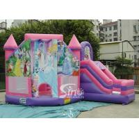 China 6x5m Commercial Kids Party Princess Inflatable Bouncy Castles With Slide For Outdoor From Sino Inflatable wholesale