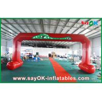 China Red PVC Printed Start Finish Line Arches Double Sewing Inflatable Entrance Arch wholesale