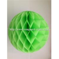 Quality round golding honeycomb tissue paper fan for wedding hanging honeycomb paper crafts for sale
