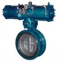 China Pneumatic Metal Seat Butterfly Valves DN300 PN10 For Industrial Waste Water,WCB,CAST STEEL wholesale