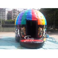 China Kids N Adults Inflatable Music Disco Dome Bouncy Castle With Light Hooks On Top For Outdoor N Indoor Parties wholesale