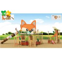 China Diy Wooden Playground Slide , Wooden Frame Slide Surfact Mounting Stable wholesale