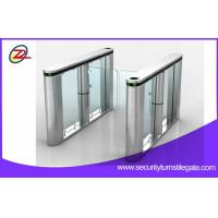Quality Fingerprint Scanner Swing Barrier Gate with Access Control Card for sale