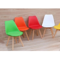 China Ergonomic Height Beech Wood Chair , High Back Leather Dining Chairs wholesale