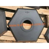 China Hot Sales 8lb Hexagon Black Recycled Rubber Base for Delineator Post, Traffic Safety wholesale