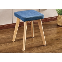 China European Style Makeup Vanity Chair , Smell Free Dressing Table Vanity Stool wholesale