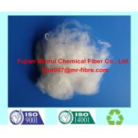 Quality 100% recycled Polyester Staple Fiber 1.4dx38mm Optical White color Made From Waste Pet Bottle Flakes for sale
