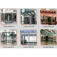 China Glass holder Automatic Glass Sliding Doors With Aluminum Alloy Material W 800mm wholesale