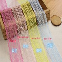 China 45cm Lace Ribbon Tape DIY Embroidered Lace Trim Fabric Sewing Decoration wholesale
