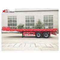 China FEA Analysis 40 Foot Flatbed Trailer , PRO - E Design Extendable Flatbed Trailer wholesale