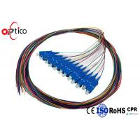 Quality SM MM Simplex 12 Color Pigtail Patch Cord , 0.9mm Loose Tube SC UPC Pigtail for sale