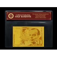 Quality Double Logo France 50 Franc 24K Gold Banknote In 24K Gold Leaf For Collection  for sale