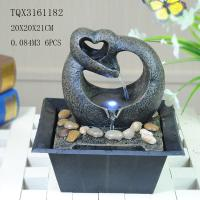 China Free Standing Polyresin Water Fountain Heart Shaped Battery Powered For Home Decor wholesale