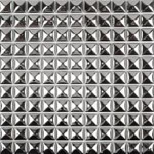 China Decorative Silver Metallic Floor Tiles , Solid Mirror Metallic Mosaic Bathroom Tiles wholesale