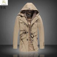 China Newest winter designer Long windbreaker jacket pure colour b-urberry male fashion coat wholesale
