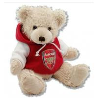 Quality 12 Inch White Teddy Bear Holiday Stuffed Toys Embroidery Printing for sale