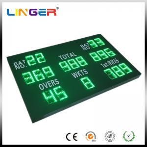 China Green Color Digital Cricket Scoreboard , Electronic Sports Scoreboard With Wireless Control Box wholesale