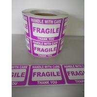 China Self Adhesive Electrical Warning Shipping Labels Pre - Printed Fragile Sticker wholesale