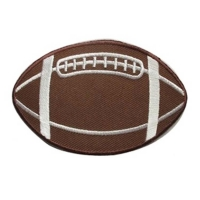 China Smooth Texture Rugby NFL Iron On Patches With Embroidery Edge wholesale