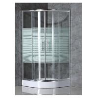 China simple shower enclosure with strip glass on sale