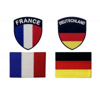 Buy cheap Hot Cutting 50% 75% 100% Embroidered National Flag Patches from wholesalers