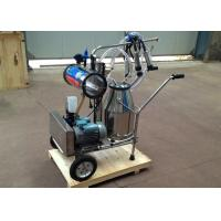Quality 220v , 40-60Hz Electric Motor Equipped Cow Milking Machine , Single Bucket Milker for sale