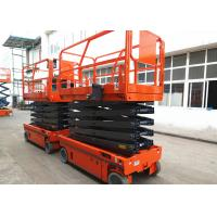 China Manganese Steel Self Propelled Aerial Work Platform Auto Brake System wholesale