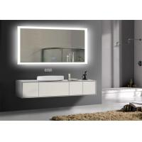 China Rectangle Frameless Mirror TV With LED Light Clock , Smart Mirror TV For Hotel wholesale
