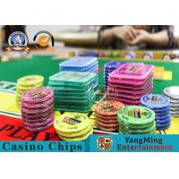 Square Crystal Acrylic RFID Casino Poker Chip Set Plaque Wear Resistant for sale