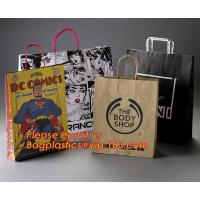 China Luxury matte black shopping paper bag with logo UV for clothing packaging wholesale
