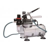 China Quiet Makeup Airbrush Compressor , Tankless Air Compressor Anti Rust TC-22BK wholesale