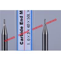 China Carbide / Aluminum End Mill with HRC50 Hardness 45 Degree Helix Angle wholesale