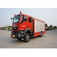 China 4x2 Drive Type Fire And Rescue Vehicles , Approach Angle 19° Motorized Fire Truck wholesale