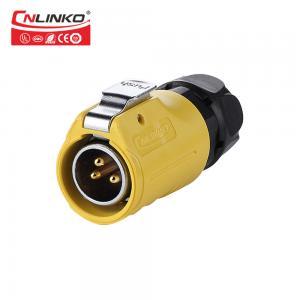 China Female Plug Cnlinko IP67 UL TUV 3 Pin Aviation Connector on sale