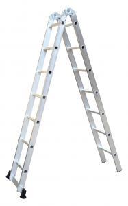 China En131 6.02m 2X11 Aluminium Step Ladder wholesale