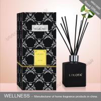 China Black Square Home Reed Diffuser No Flame Fresh Smelling For Room Fragrance wholesale