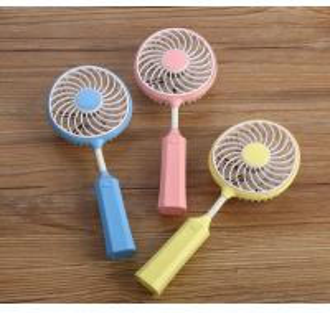China Portable USB Badminton Racket Fan Handheld Mini Badminton Racket Fan on sale