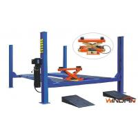 Quality Adjustable Hydraulic Car Lift , Four Post Car Lift With Pneumatic Jack WD440C for sale