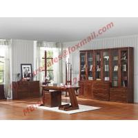 High Quality Solid Wooden Material Bookcase Set in Study Room