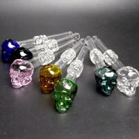 """China Recyclable Skull Glass oil burner pipe Bubbler Bowl 5.5""""Inch Lenght Lightweight wholesale"""