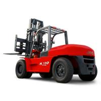 China JAC 10 Ton Diesel Forklift , Large Capacity Counterbalance Forklifts , Heavy Equipment Forklift , Red Or Orange Color wholesale