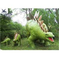 China Jurassic Park Outdoor Resin Animal Statues , Artificial Robotic Moving Dinosaur Sculpture Park  wholesale